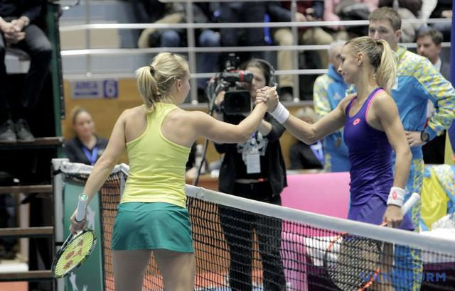 Ukrainian tennis team defeated Australia in Fed Cup 04