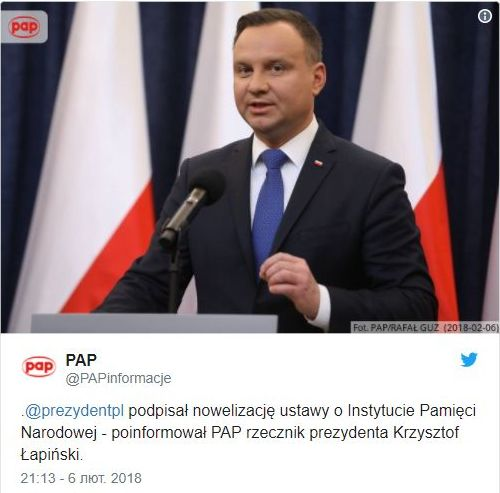 Poland's president signs into law the bill criminalizing Bandera ideology, - press secretary 01