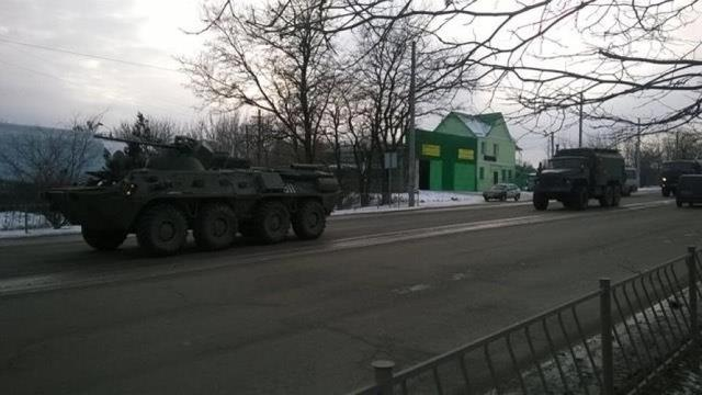 Column of military vehicles entered occupied Simferopol, - Human Rights Information Center 03