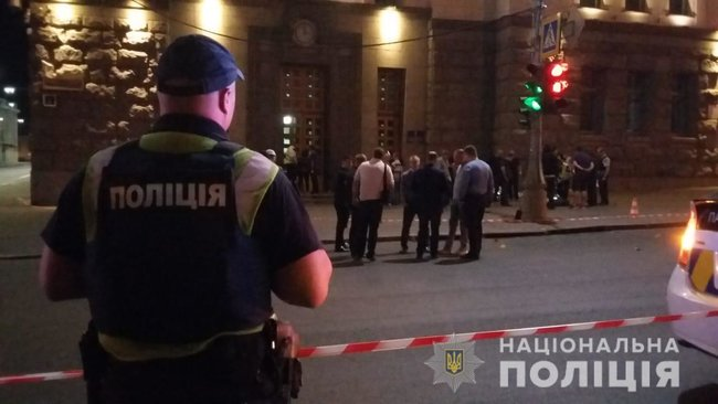 Police officer gunned down, security guard shot and wounded as unidentified gunman attacked Kharkiv City Council last night 02