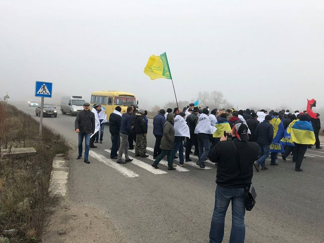 Farmers across Ukraine protesting against introduction of land reform 01