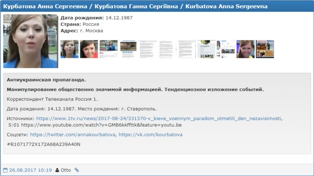 Russian journalist blacklisted by Myrotvorets for anti-Ukrainian piece about Independence Day 01