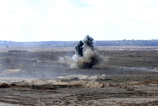 SPG live fire drills took place in Chernihiv region 06