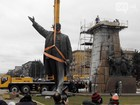Biggest monument to Lenin in Ukraine dismantled in Zaporizhia. VIDEO+PHOTOS