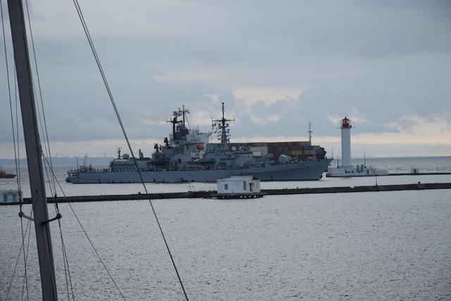 Italian destroyer Luigi Durand de la Penne entered Odesa port 01