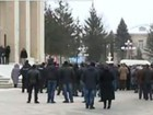 Sharhorod residents block road in protest against healthcare reform