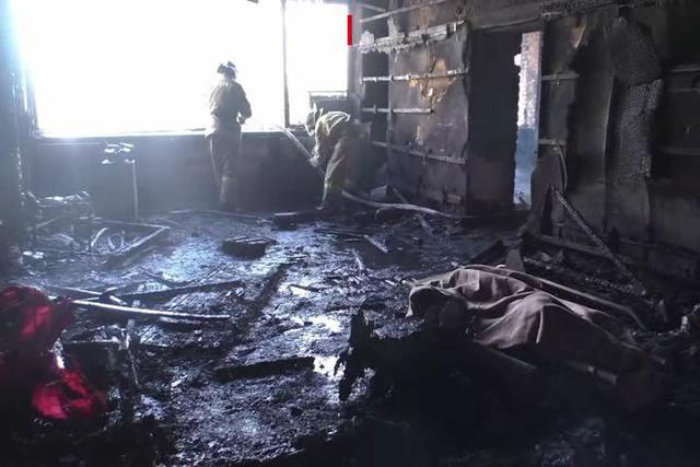 Burnt corpse found inside scorched office of terrorist chieftain Givi 01