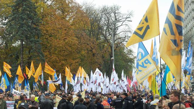 Protests near Rada building in Kyiv on Oct. 17 52