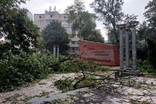Aftermath of severe rainstorm in Kyiv: flooded city center, dozens of fallen trees 05