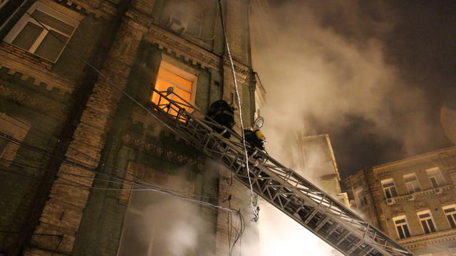 Fire in downtown: 5-storey residential building caught fire