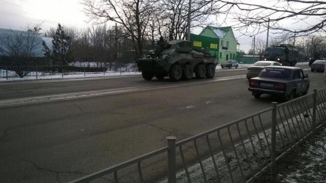 Column of military vehicles entered occupied Simferopol, - Human Rights Information Center 02