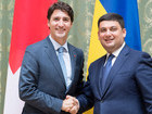 Hroisman, Trudeau discussed prospects for deepening economic cooperation. PHOTO