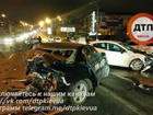 Three cars crashed in Kyiv downtown: two people injured. PHOTO