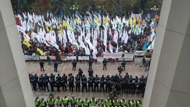 Protests near Rada building in Kyiv on Oct. 17 65