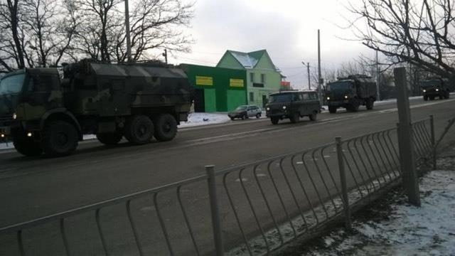 Column of military vehicles entered occupied Simferopol, - Human Rights Information Center 01