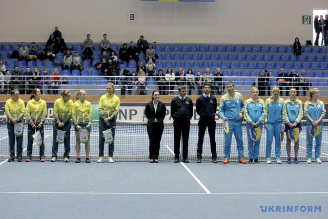 Ukrainian tennis team defeated Australia in Fed Cup 01