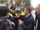 Police does not allow Automaidan cars to Rada. PHOTOS