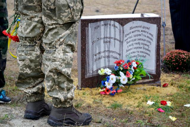 Heavenly Hundred and volunteer fighters monument unveiled on Karachun mountain in Donetsk region 02