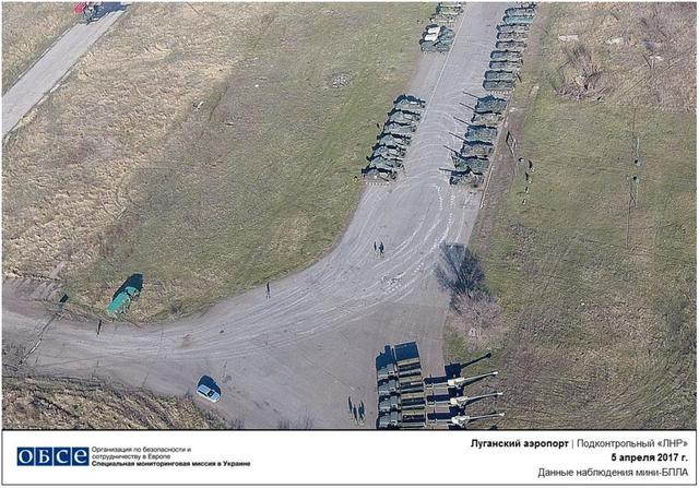 Militants tried to bring down OSCE drone recording Russian hardware amassed in Luhansk area 01