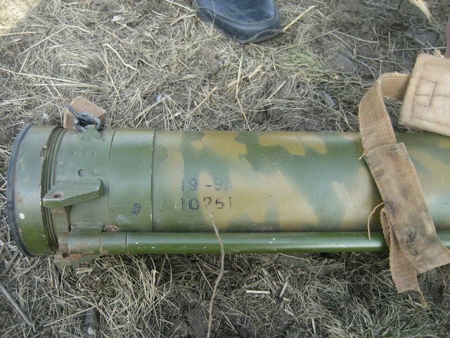 Russian-produced rocket launcher, ammunition found in ATO zone 02