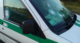 Armed bandits tried to rob security van in Zaporizhia region, - National Police. PHOTOS