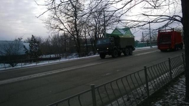 Column of military vehicles entered occupied Simferopol, - Human Rights Information Center 04