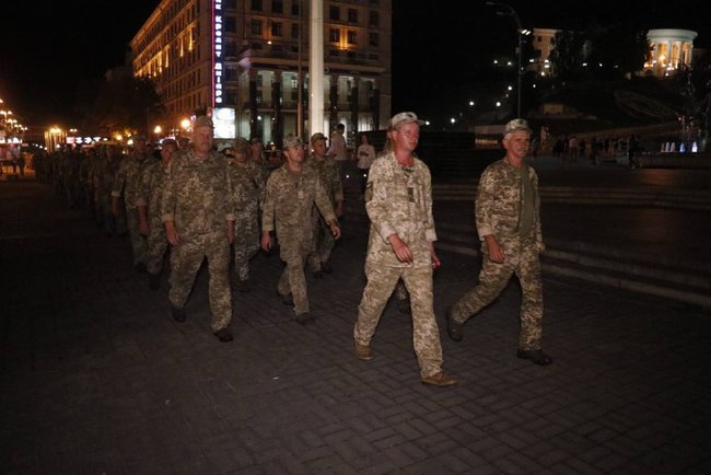 First rehearsal of Independence Day parade held in downtown Kyiv 02