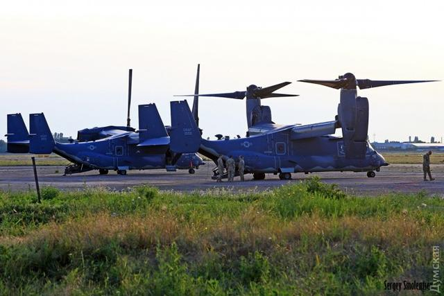 Osprey tiltrotors of US Marines arrived in Ukraine for Sea Breeze 2017 05