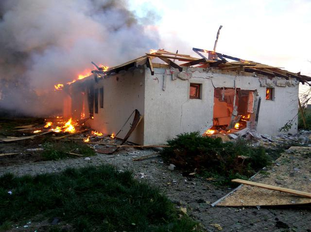 Aftermath of Shyrokyne and Berdianske shelling by Russian troops 03