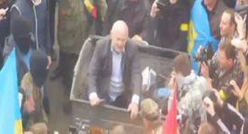 """TrashBucketChallenge"": Activists Throw First Deputy Chairman of the Rivne Regional Council Danylchuk in Dumpster. VIDEO"
