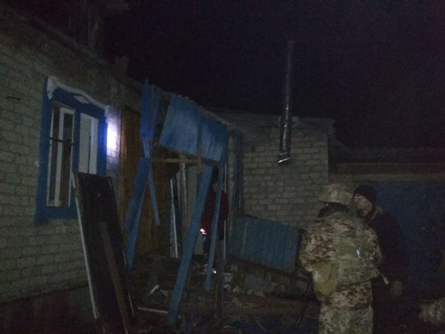 Eight civilians injured in massive missile strike on Novoluhanske village, extensive damage caused to residential neighborhood 07