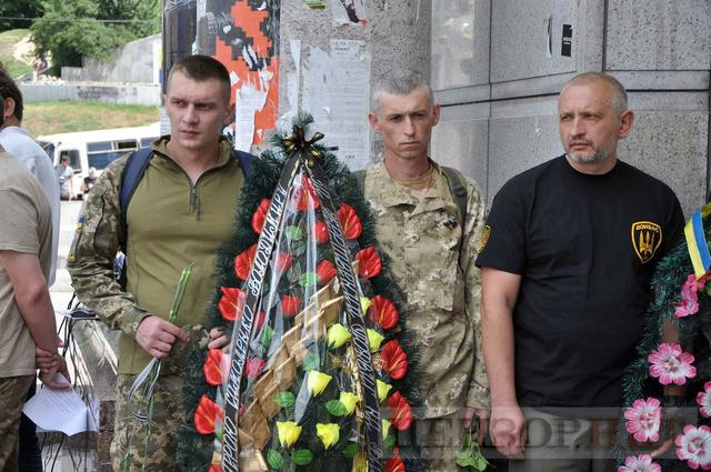 Family, friends, comrades said farewell to volunteer Volodymyr Samoilenko killed in Donbas 16