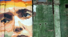 Huge portrait of Savchenko painted in Zaporizhia. PHOTOS