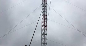 TV tower on Mount Karachun already 104-meter high, 76 meters to be constructed, - Donetsk region head Zhebrivskyi. PHOTOS