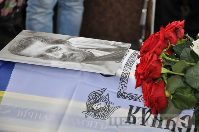 Family, friends, comrades said farewell to volunteer Volodymyr Samoilenko killed in Donbas 36