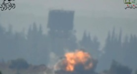 ATGM shot that presumably killed Russian Major Bordov in Syria. VIDEO