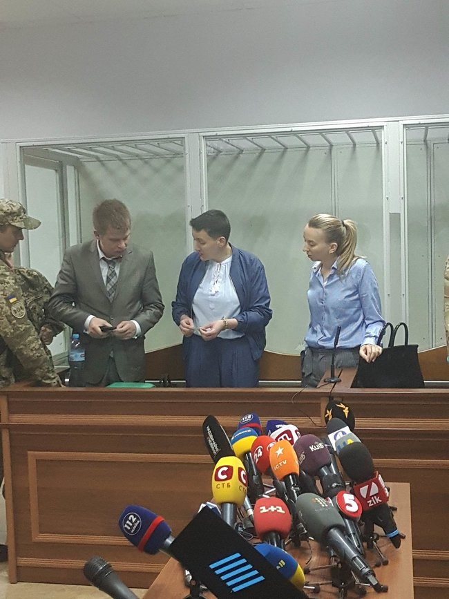Court adjourns MP Savchenko's trial for tomorrow after granting her public defender 02