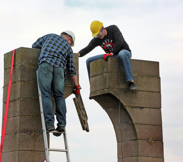 Polish nationalists dismantled monument to Ukraines UPA fighters in Przemysl area 06
