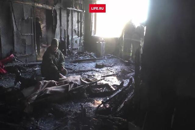 Burnt corpse found inside scorched office of terrorist chieftain Givi 02