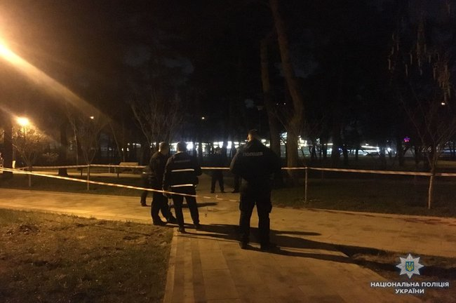Two persons injured in alleged grenade explosion in Kyiv's Kyoto Park last night, - National Police 01