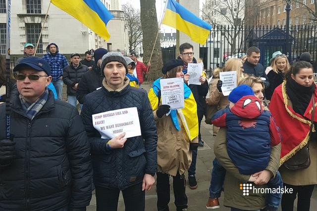 """Stop Russian aggression"": protesters in London demanded stiffening sanctions against Russia 06"