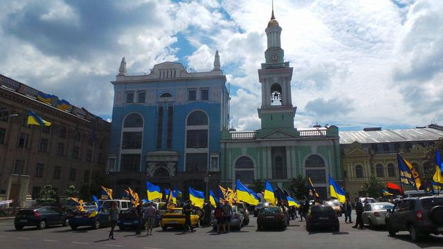 Poroshenko sign amnesty! car run started in Kyiv 08