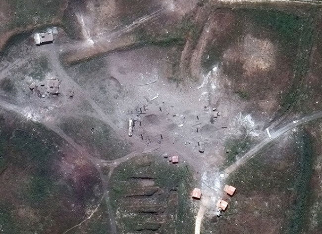 Pentagon releases details on US-led airstrikes in Syria triggered by recent chemical attack 04