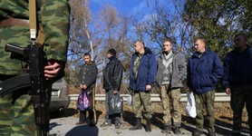 Ukraine exchanged 11 militants for 8 Ukrainian soldiers and one civilian. PHOTOS