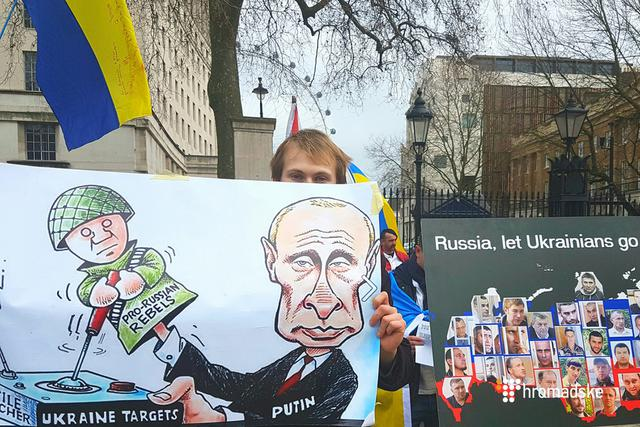 """Stop Russian aggression"": protesters in London demanded stiffening sanctions against Russia 05"