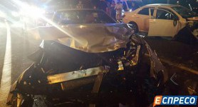 Drunken ex-official Pylypchuk caused accident in Kyiv. PHOTOS+VIDEO