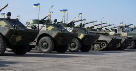 Poroshenko handed over 420 additional items of military equipment and armament to Ukraine Army. PHOTO