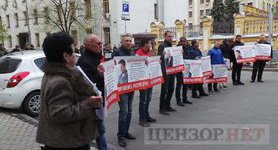 Rally outside Presidential Administration: activists demand holding officials-separatists accountable. VIDEO+PHOTOS