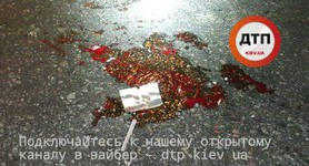 Traffic rules violator hit by car in Kyiv. PHOTOS+VIDEO