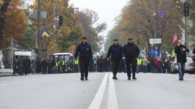 Protests near Rada building in Kyiv on Oct. 17 24